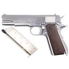 Pistola Airsoft 1911 WE GBB Mate Chrome 6mm - Full Metal