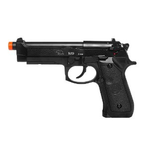 Pistola Airsoft M9A1 Black QGK GBB 6mm - Full Metal