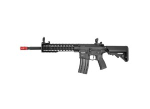 "Rifle Airsoft Elétrico AR15 Neptune 10"" Keymod New Receiver Rossi 6mm"