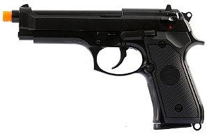 Pistola Airsoft M92 Gen.2 WE Black GBB 6mm - Full Metal