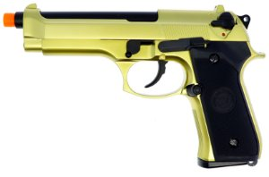 Pistola Airsoft M92 WE Gold GBB 6mm - Full Metal