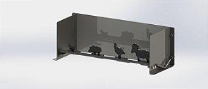 Alvos De Silhuetas Bichos Escala 1-10 Chapa De 2,5mm