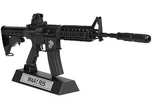 Miniatura em Metal Rifle M4A1 RIS Black