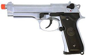 Pistola Airsoft SR92 SRC Inox GBB 6mm - Full Metal