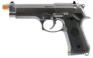Pistola Airsoft M92 Gen.2 WE Chrome GBB 6mm - Full Metal