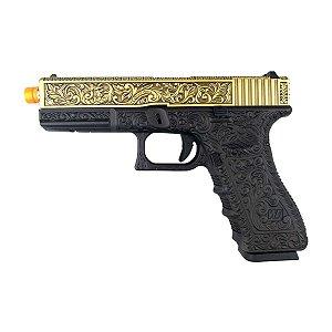Pistola Airsoft Glock G17 Ivory WE GBB 6mm
