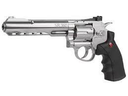 Revólver Airgun SR357 Silver Co2 4,5mm - Full Metal