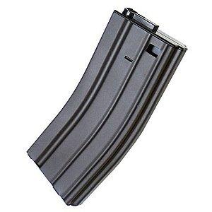 Magazine Airsoft em Metal Hi-Cap para Rifle Aeg M4 / M16 - 300 bbs