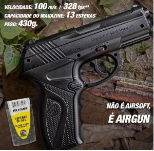 Pistola Airgun WG C11 Co2 6mm