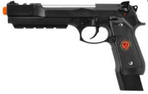 Pistola Airsoft M92 WE BioHazard Extended Black GBB 6mm