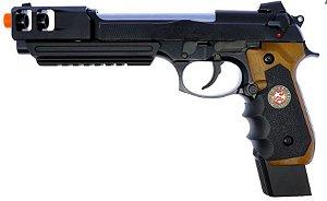 Pistola Airsoft M92 WE BioHazard Extended Brown Gen. 2 GBB 6mm
