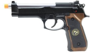 Pistola Airsoft M92 WE BioHazard Black Gen. 2 GBB 6mm - Full Metal
