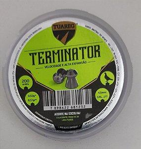 Chumbinho Tuareg Terminator 4,5mm - 200 unidades