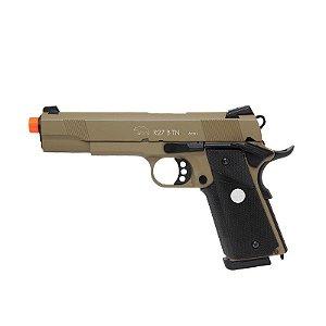 Pistola Airsoft M1911 R27 Tan Army Armament GBB 6mm - Full Metal
