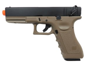 Pistola Airsoft Glock R18 Tan Army Armament GBB 6mm