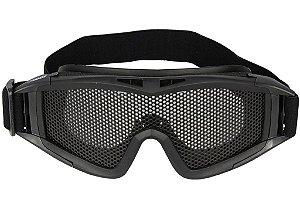 Óculos de Proteção Tela Única - Preto