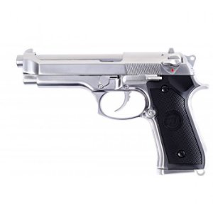 Pistola Airsoft M92 WE GBB Chrome 6mm - Full Metal