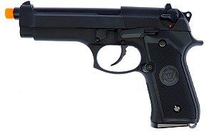 Pistola Airsoft M92 Black WE GBB 6mm - Full Metal