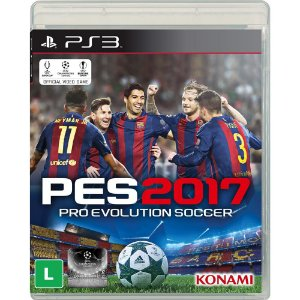 Jogo Pro Evolution Soccer PES 2017 - PS3