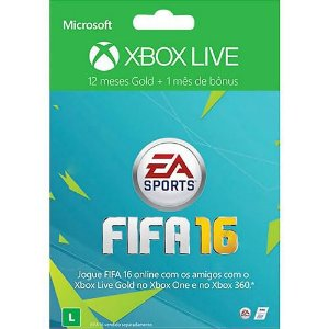 Xbox Live Gold 12 Meses FIFA 16 + 1 Mês de EA Access