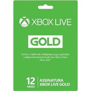 Xbox Live Card Gold 12 Meses - Xbox 360 e Xbox One