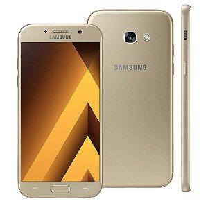 Smartphone Samsung Galaxy A5 2017 A520F Dourado Dual Chip Android 6.0 4G Wi-Fi Câmeras Traseira 16MP e Frontal 16MP