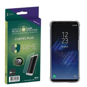 Pelicula HPrime Galaxy S8 Plus Blindada Curves Plus + Capa TPU Transparente Tela 6.2