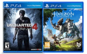 Jogos Uncharted 4: A Thief's End E Horizon: Zero Dawn - Ps4