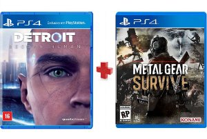 Jogo DETROIT BECOME HUMAN + Jogo METAL GEAR SURVIVE PS4