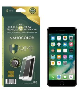 Kit Nanocolor - Película Nanoshield + Capa Antichoque - Iphone 7 / 7 Plus