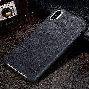 Capa Protetora X-level Vintage Couro Pu Preto Iphone 7