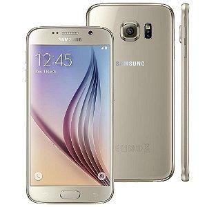 """Smartphone Samsung Galaxy S6 SM-G920I Dourado com Tela 5.1"""", Android 5.0, 4G, Câmera 16MP e Processador Octa-Core"""