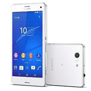 "Smartphone Sony Xperia Z3 Compact D5833 Branco Tela 4.6"", Câmera 20.7MP, 3G/4G, Android 5.0 Quad-Core 2.5 GHz"