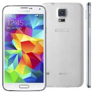 Smartphone Samsung Galaxy s5 g900md duos 16gb 5.0 lollipop 4g 16mp Branco