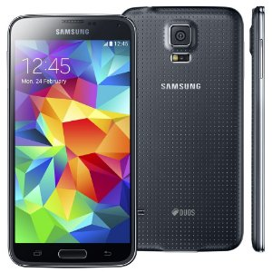 Smartphone Samsung Galaxy s5 g900md duos 16gb 5.0 lollipop 4g 16mp Preto