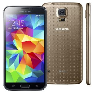 Smartphone Samsung Galaxy s5 g900md duos 16gb 5.0 lollipop 4g 16mp Dourado
