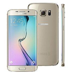 Smartphone Samsung Galaxy S6 Edge SM-G925I Dourado 4G Câmera 16 MP Octa Core 32GB