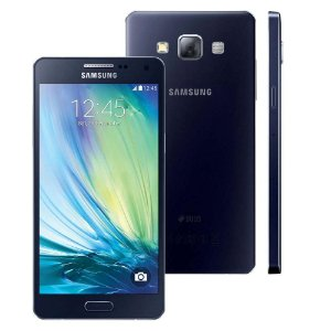 Smartphone Samsung Galaxy A5 A500M/DS Dual Chip 4G Preto, Quad Core 1.2GHz, HD,  16GB, Cam.13+5MP