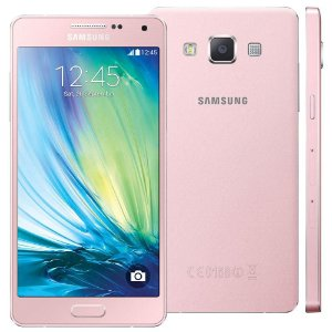 Smartphone Samsung Galaxy A5 A500M/DS Dual Chip 4G Rosa Quad Core 1.2GHz, HD,  16GB, Cam.13+5MP