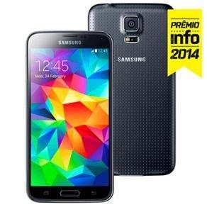 """Smartphone Samsung Galaxy S5 SM-G900M Preto com Tela 5.1"""", Android 5.0, 4G, Câmera 16MP e Processador Quad Core 2.5GHz"""