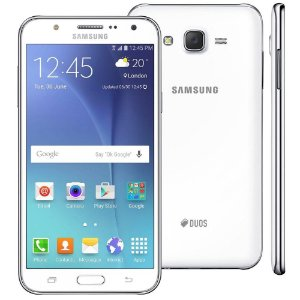 """Smartphone Samsung Galaxy J7 Duos Branco com Dual chip, Tela 5.5"""", 4G, Câmera 13MP, Android 5.1 e Processador Octa Core"""