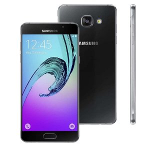 "Smartphone Samsung Galaxy A5 2016 Duos A510M/DS Preto Dual Chip, Tela 5.2"", Android 5.1, Câm.13MP Octa Core 1.6GHz"
