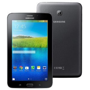 "Tablet Samsung Galaxy Tab E 7.0 WiFi SM-T113NU Preto Tela 7"", 8GB, Quad Core de 1.3GHz, Câm. 2MP, AGPS, Bluetooth e Android 4.4"