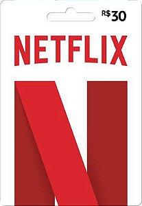 Cartão Pré-pago Netflix R$30