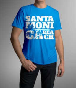 T-SHIRT SM BEACH BLUE