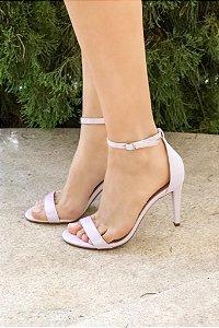 Sandália Salto Fino 1 Tira - Lilás