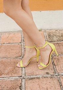 Sandália Salto Fino 1 Tira - Narciso (amarela)