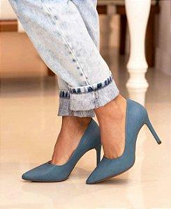 Scarpin Salto Alto - Denin (Azul)