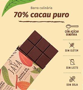 Barra de chocolate 70% cacau - sem glúten, lactose, leite e soja - Apenas 5 kg