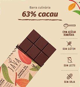 Barra culinária de chocolate 63% cacau bean to bar- Apenas 5kg